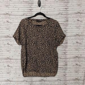 Velvet heart Womens sz:M leopard print blouse